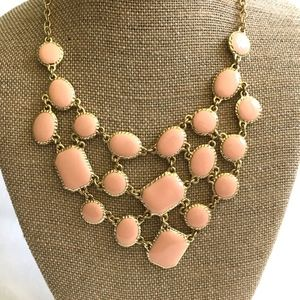 Jewelry - 3/$30! Pink/Gold and Enamel Bib Statement Necklace